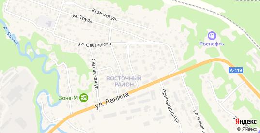Улица Матросова в Медвежьегорске с номерами домов на карте. Спутник и схема онлайн