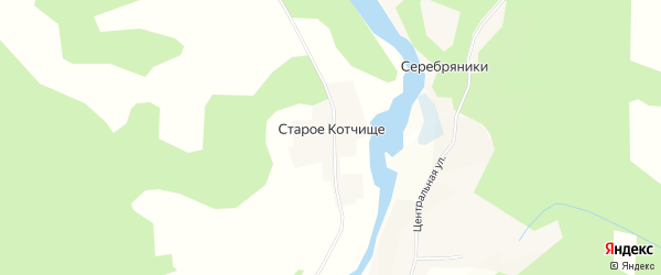 Карта деревни Старого Котчища в Тверской области с улицами и номерами домов