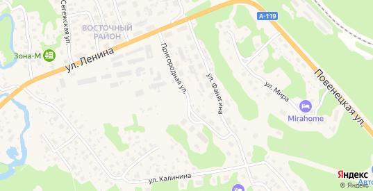 Пригородная улица в Медвежьегорске с номерами домов на карте. Спутник и схема онлайн