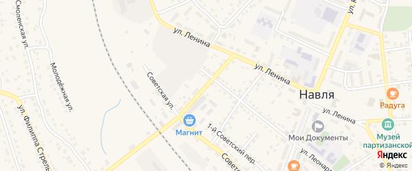 Переулок 3-й Леонардо Гарсиа на карте поселка Навли с номерами домов