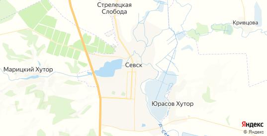 Карта Севска с улицами и домами подробная. Показать со спутника номера домов онлайн