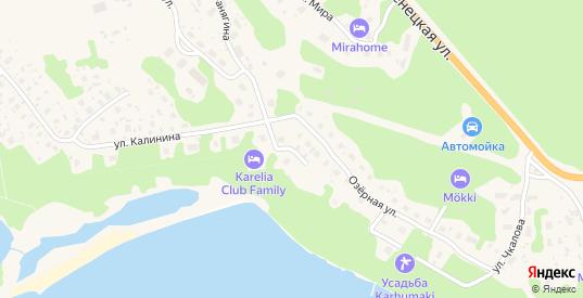 Озёрный переулок в Медвежьегорске с номерами домов на карте. Спутник и схема онлайн