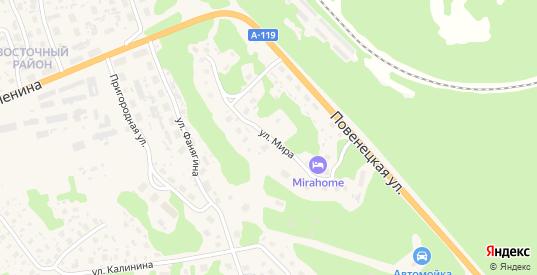 Улица Мира в Медвежьегорске с номерами домов на карте. Спутник и схема онлайн