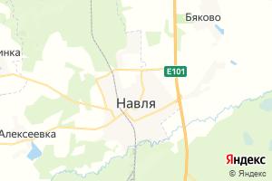 Карта пос. Навля Брянская область
