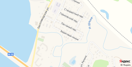 Береговая линия в Вышнем Волочке с номерами домов на карте. Спутник и схема онлайн