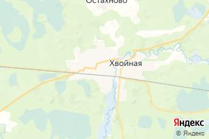 Карта пос. Хвойная Новгородская область
