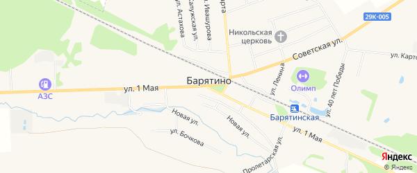 Карта села Барятино в Калужской области с улицами и номерами домов