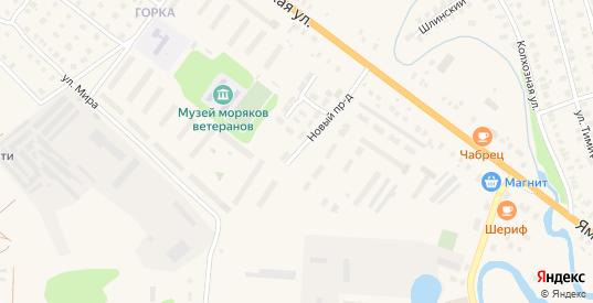 Новый проезд в Вышнем Волочке с номерами домов на карте. Спутник и схема онлайн