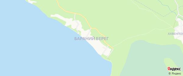Район Бараний Берег на карте Петрозаводска с номерами домов