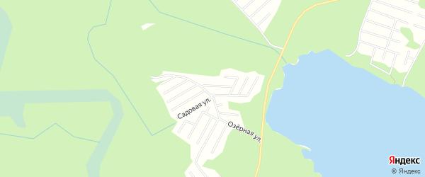 Карта садового некоммерческого товарищества Радуга (Пиньгуба м) в Карелии с улицами и номерами домов