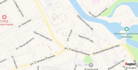 Улица Гоголя в Вышнем Волочке с номерами домов на карте. Спутник и схема онлайн