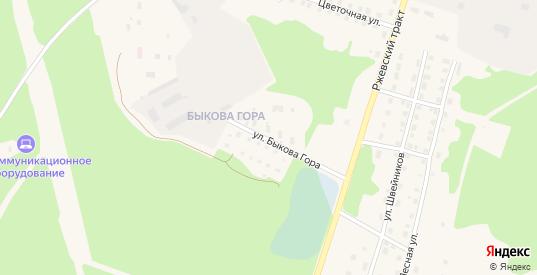Улица Быкова Гора в Вышнем Волочке с номерами домов на карте. Спутник и схема онлайн