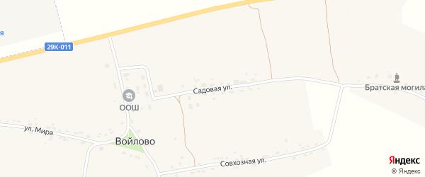 Садовая улица на карте деревни Заболотье Калужской области с номерами домов