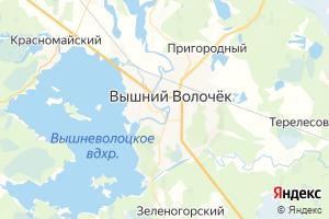 Карта г. Вышний Волочёк Тверская область