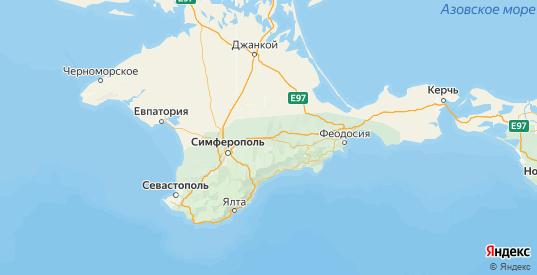 Карта Белогорского района республики Крым с городами и населенными пунктами