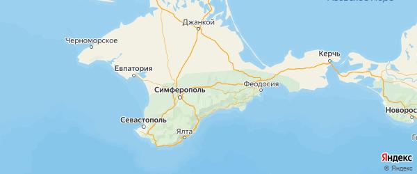 Карта Белогорского района Республики Крыма с городами и населенными пунктами