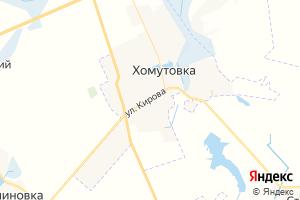 Карта пос. Хомутовка Курская область
