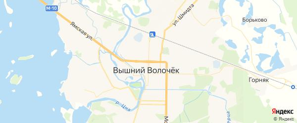 Карта Вышнего Волочка с районами, улицами и номерами домов