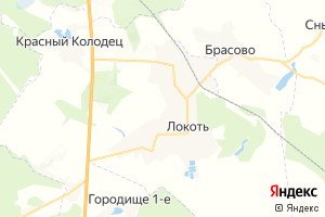 Карта пос. Локоть Брянская область