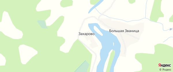 Карта деревни Захарово города Удомли в Тверской области с улицами и номерами домов