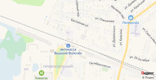 Железнодорожная улица в Вышнем Волочке с номерами домов на карте. Спутник и схема онлайн