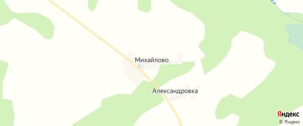 Карта деревни Михайлово в Тверской области с улицами и номерами домов