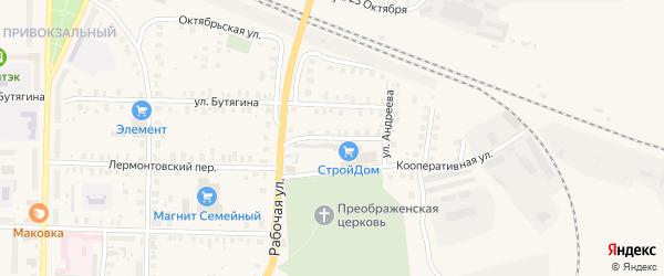 Пушкинская улица на карте Вышнего Волочка с номерами домов