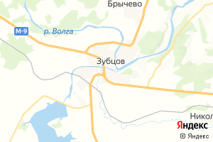 Карта г. Зубцов Тверская область