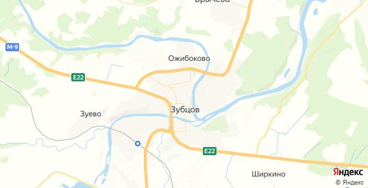 Карта Зубцова с улицами и домами подробная. Показать со спутника номера домов онлайн