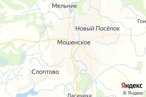 Карта с. Мошенское Новгородская область
