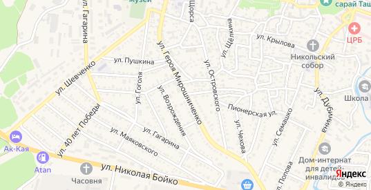 Улица Мирошниченко героя в Белогорске с номерами домов на карте. Спутник и схема онлайн