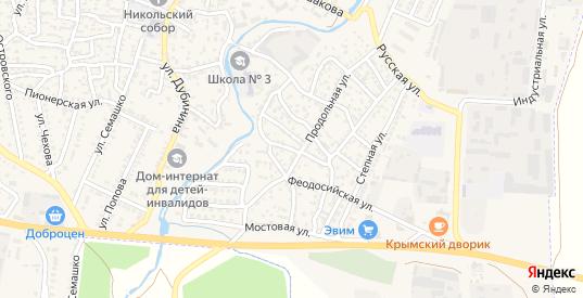 Первомайская улица в Белогорске с номерами домов на карте. Спутник и схема онлайн
