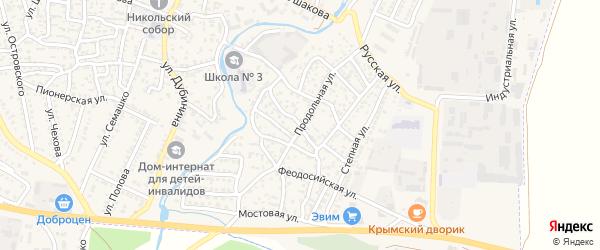 Улица Красная горка на карте Белогорска с номерами домов