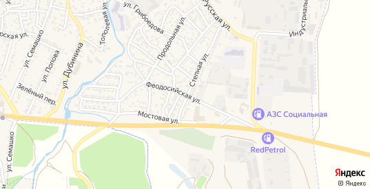 Феодосийская улица в Белогорске с номерами домов на карте. Спутник и схема онлайн