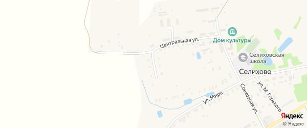 Школьная улица на карте деревни Селихово Тверской области с номерами домов