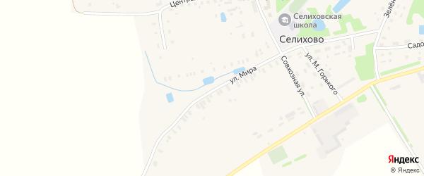 Улица Мира на карте деревни Селихово Тверской области с номерами домов