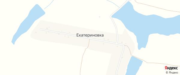 Озерная улица на карте поселка Екатериновки с номерами домов