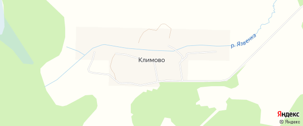 Карта деревни Климово в Тверской области с улицами и номерами домов