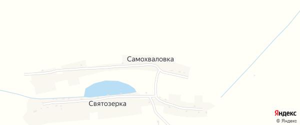 Заречная улица на карте деревни Самохваловки Курской области с номерами домов