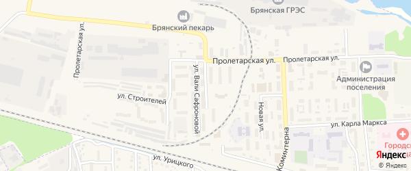 Улица Ромашина на карте поселка Белые Берега с номерами домов