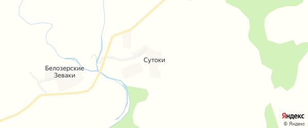 Карта деревни Сутоки в Калужской области с улицами и номерами домов