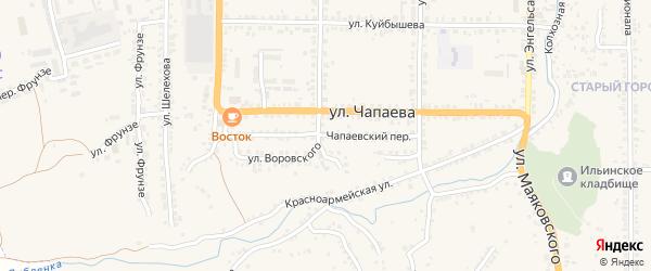 Чапаевский переулок на карте Рыльска с номерами домов