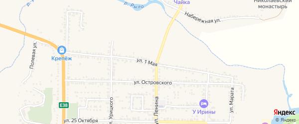 1 Мая улица на карте Рыльска с номерами домов