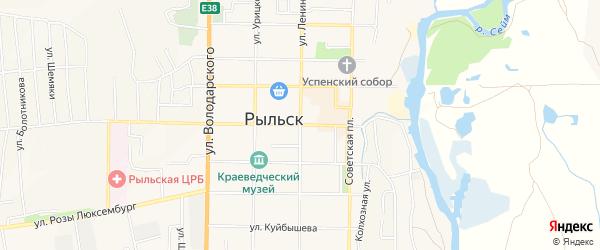 Квартал 36 на карте Рыльска с номерами домов