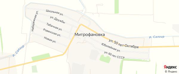 Карта села Митрофановки в Крыму с улицами и номерами домов