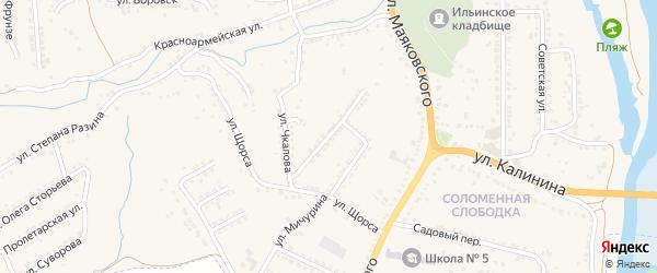 Улица А.Матросова на карте Рыльска с номерами домов