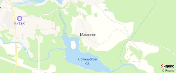 Карта деревни Машнево в Ленинградской области с улицами и номерами домов