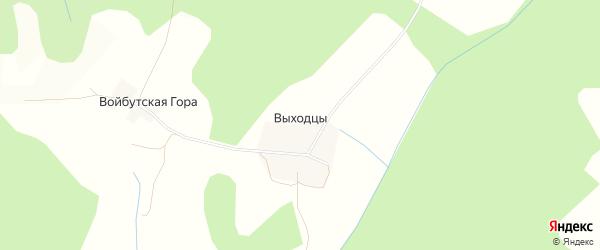 Карта деревни Выходцы в Тверской области с улицами и номерами домов