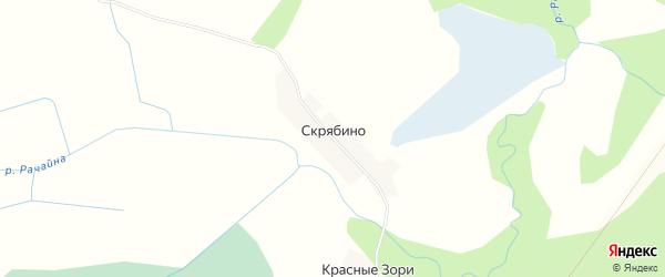 Карта деревни Скрябино в Тверской области с улицами и номерами домов