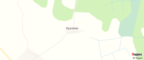 Карта деревни Куклино в Тверской области с улицами и номерами домов